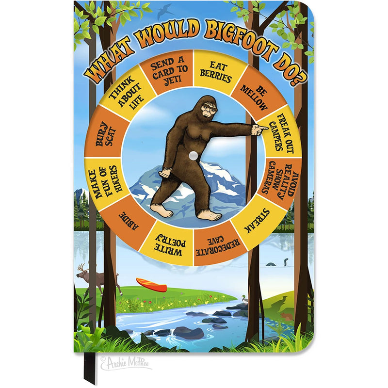 What Would Bigfoot Do? A Bigfoot Spinner Notebook - Sasquatch The Legend