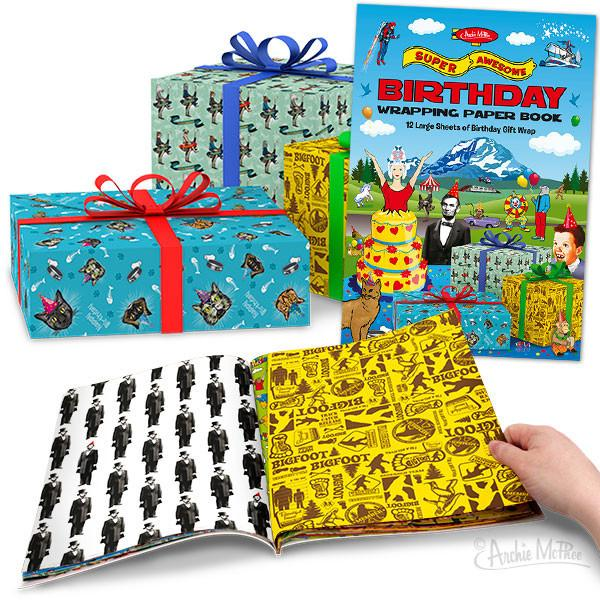 Birthday Gift Wrapping Paper Book - Sasquatch The Legend