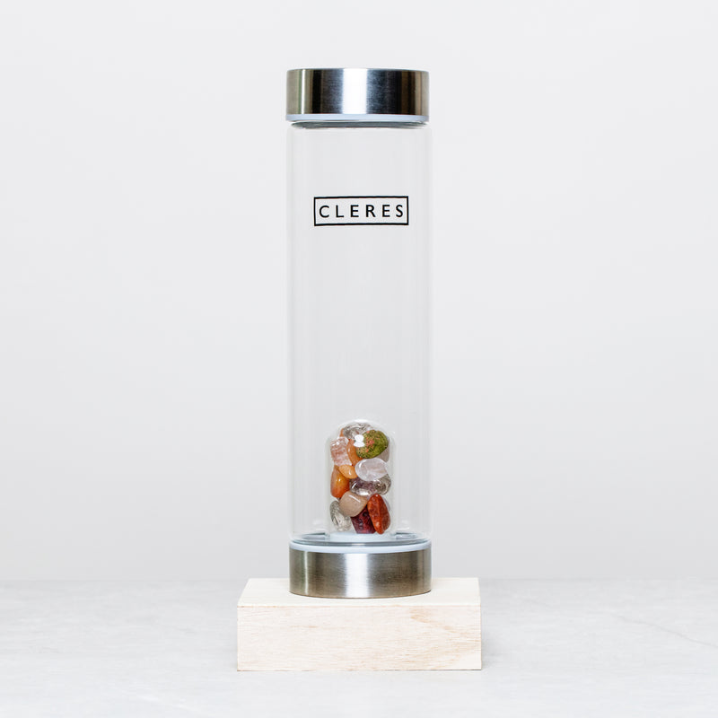 Citrine Crystal Stone Water Bottle