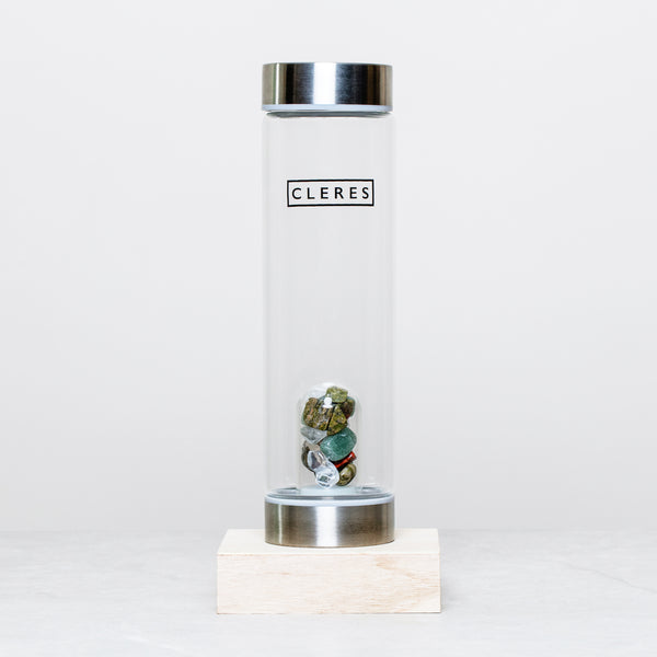 Aventurine Crystal Stone Water Bottle