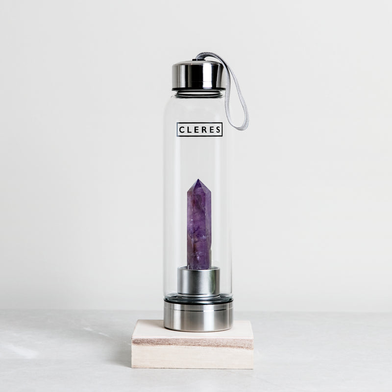 Amethyst Crystal Point Water Bottle