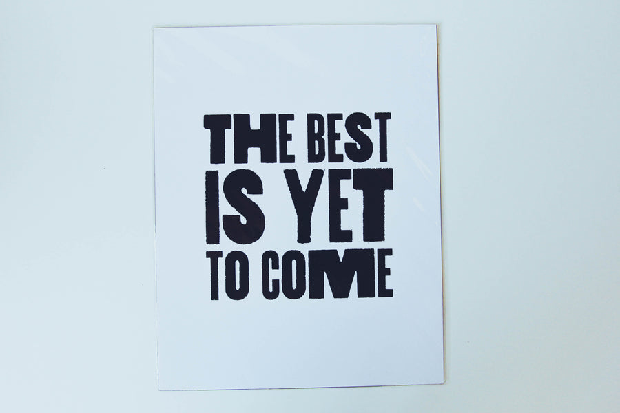 Poster - Best Is Yet