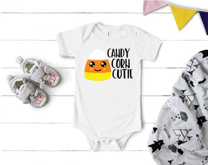 Candy Corn Cutie Boy Onesie