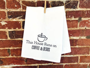 Kitchen Towel - Coffee & Jesus