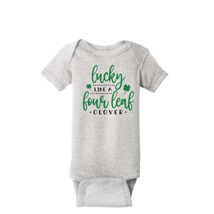 Lucky Like A Four Leaf Clover Onesie