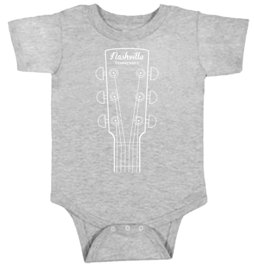 Guitar Head INFANT - Heather Gray Onesie