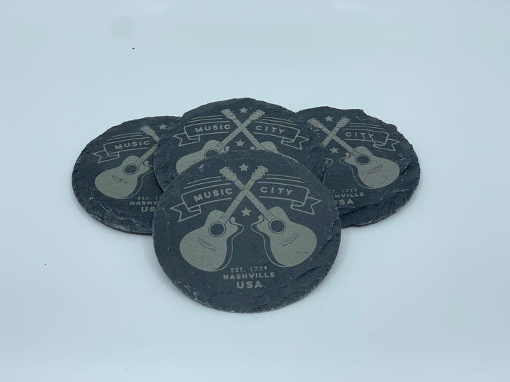 Coasters - Guitars Slate