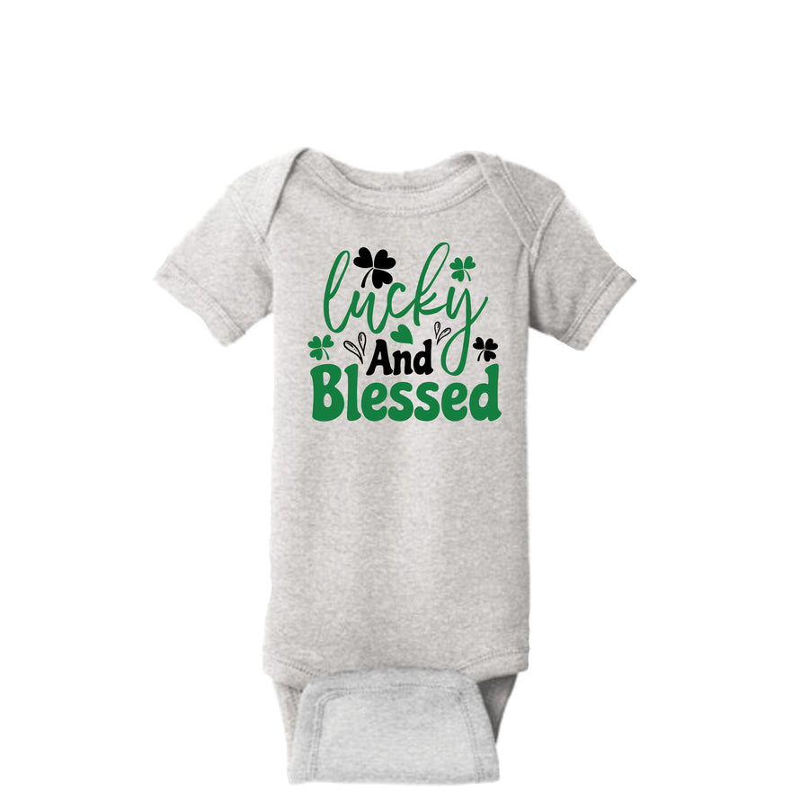 Lucky And Blessed Onesie