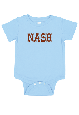 Nash INFANT - Blue Onesie