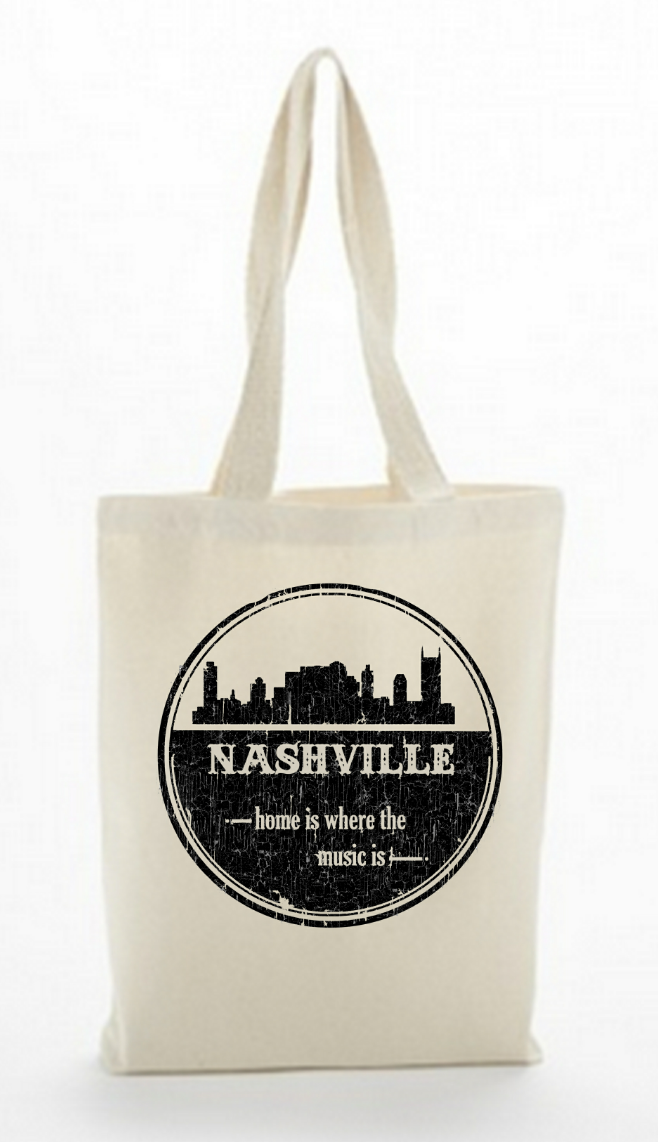 Canvas Bag - Nashville Home Is Where The Music Is