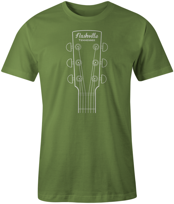 Guitar Head - Green Shirt