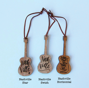 Christmas Ornament - Nashville Guitar
