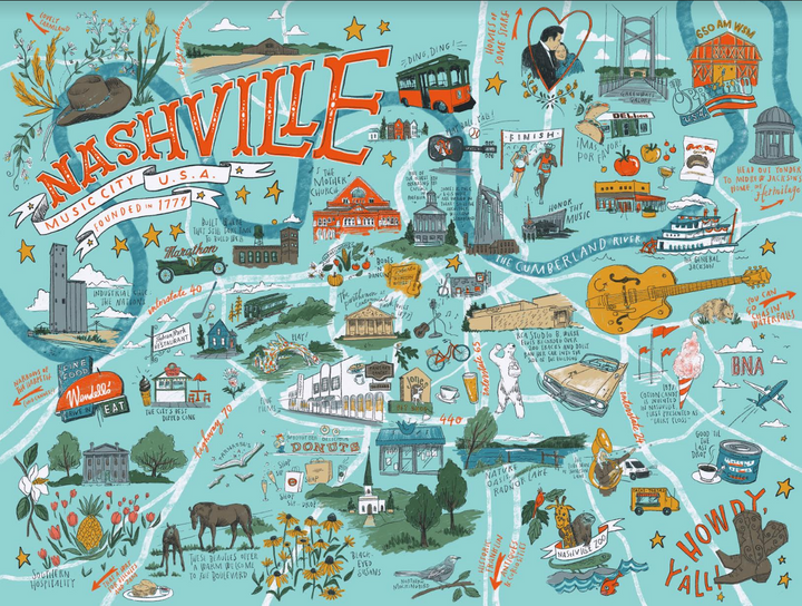 Puzzle - Nashville Illustrated