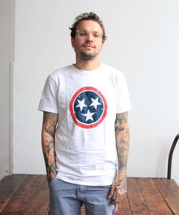 Tri Star Color - White Short Sleeve Shirt