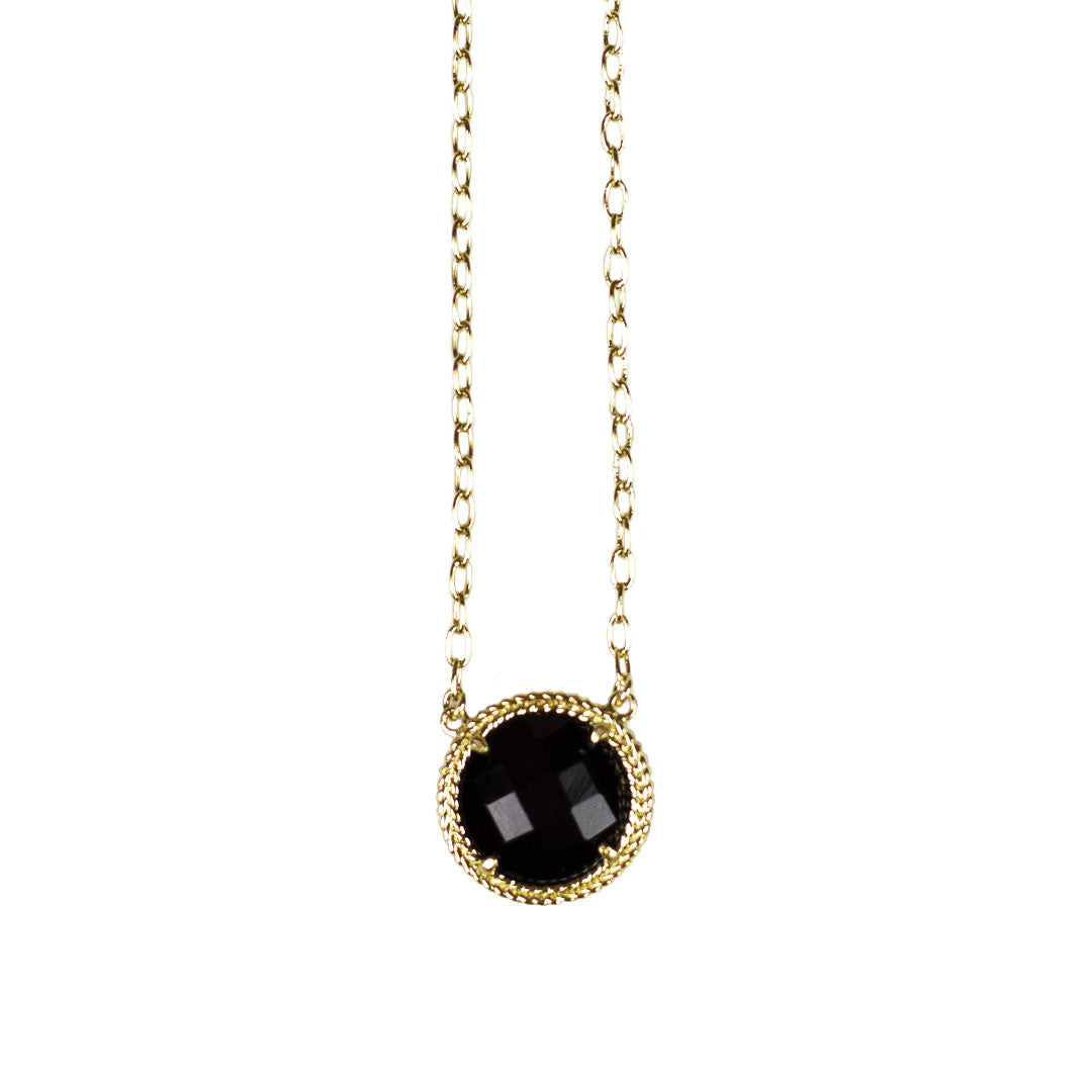 Addison Minimalist Pendant in Black Onyx