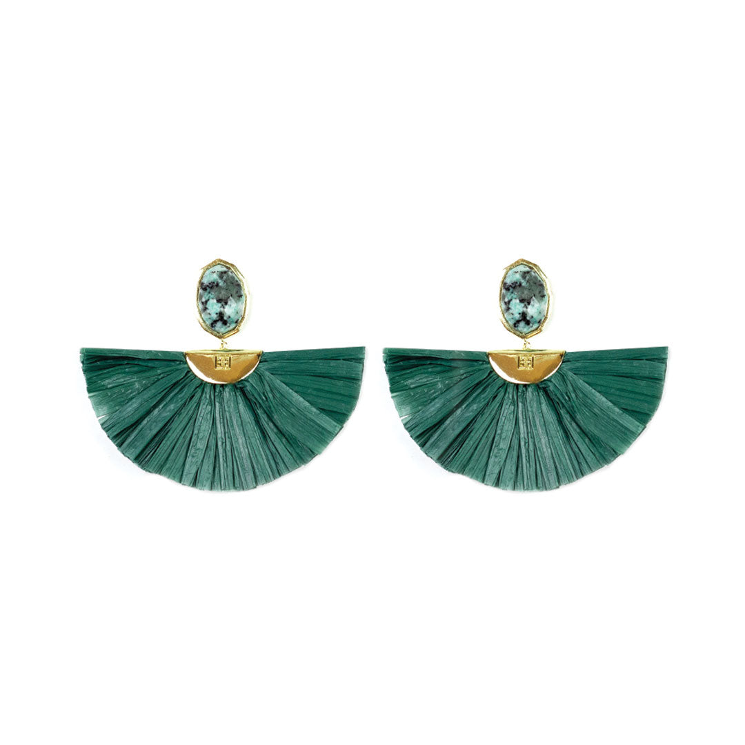 Cara Flutter Earrings in African Turquoise