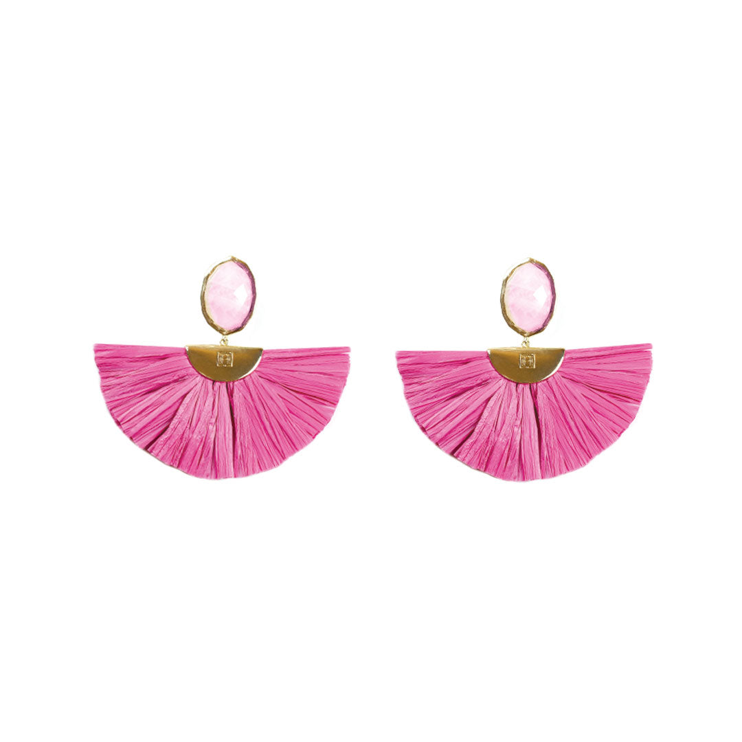 Cara Flutter Earrings in Rose