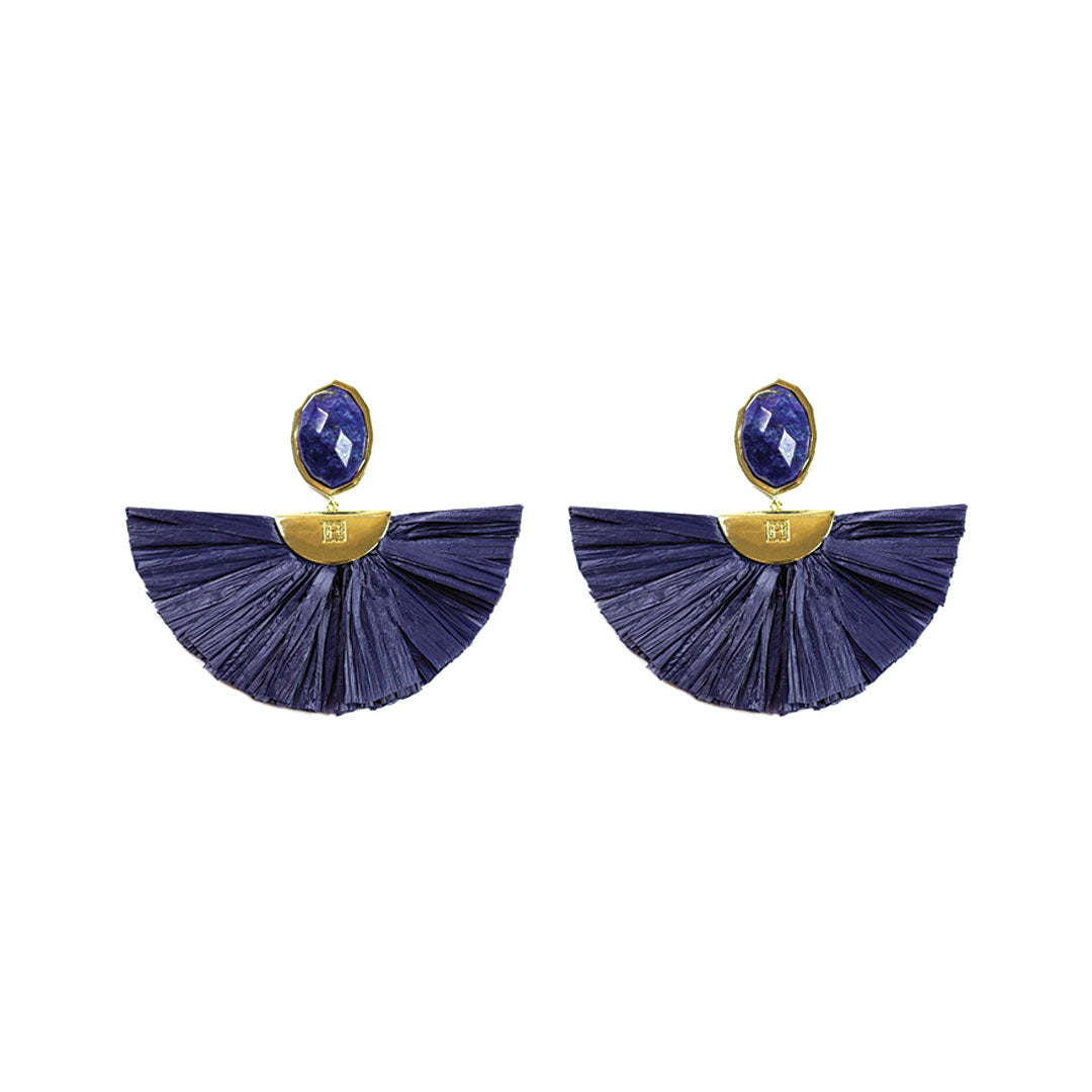 Cara Flutter Earrings in Royal Blue