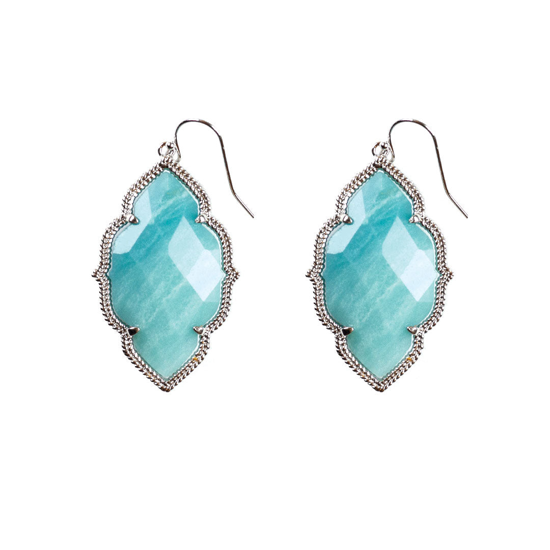 Quinn Drop Earrings in Amazonite