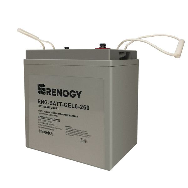 Renogy Deep Cycle Pure GEL Battery 6 Volt 260Ah