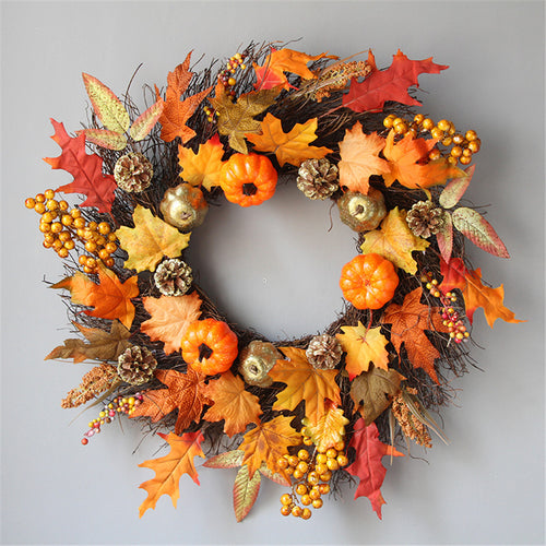 Halloween Harvest Decorative Wreath