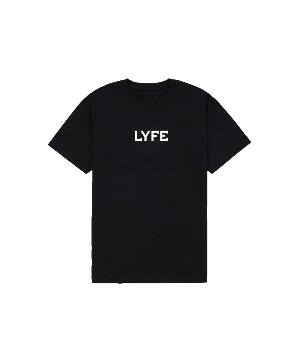 LYFE BOX LOGO SS IN BLACK