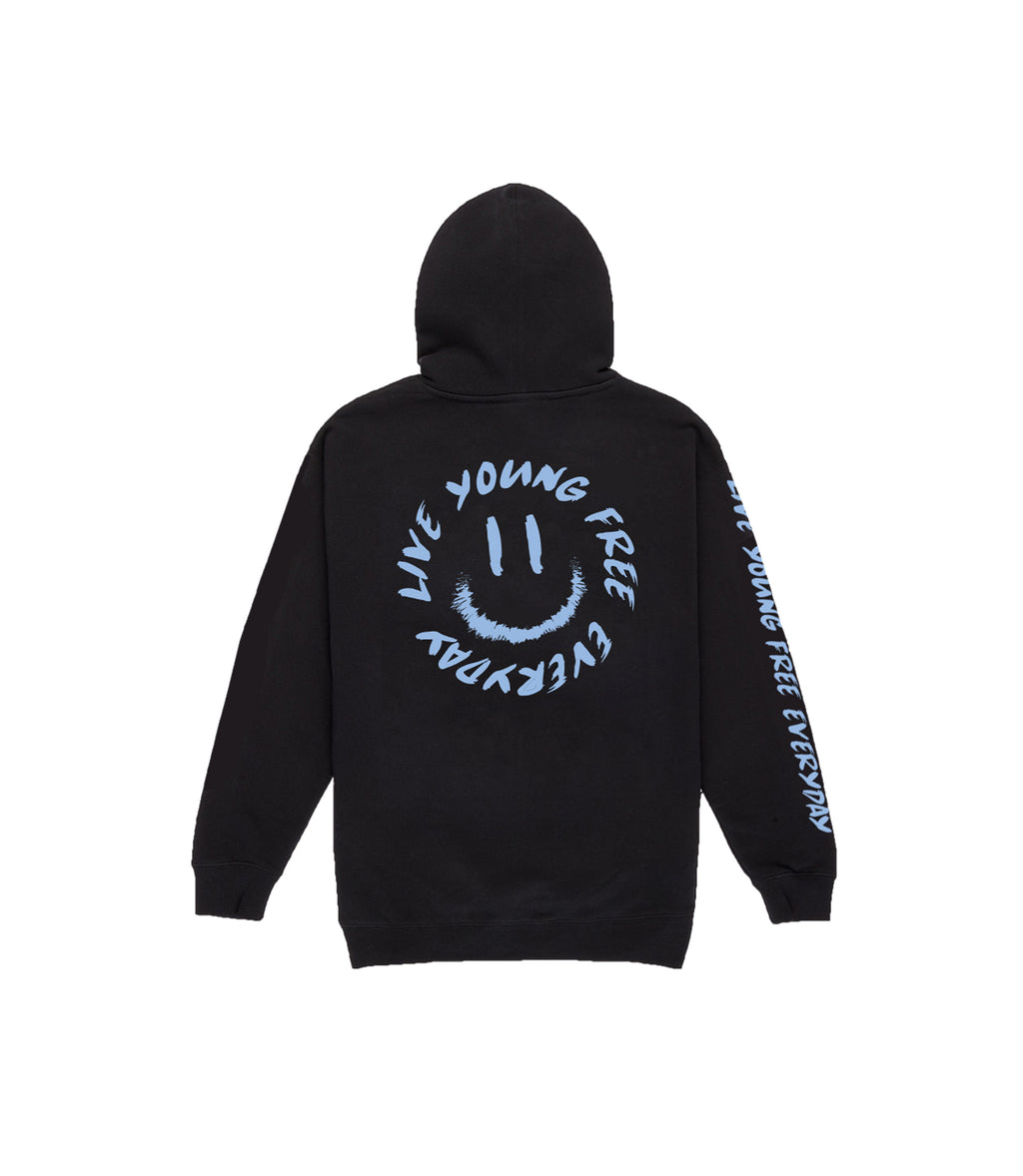 LYFE SMILEY HOODIE IN ICE