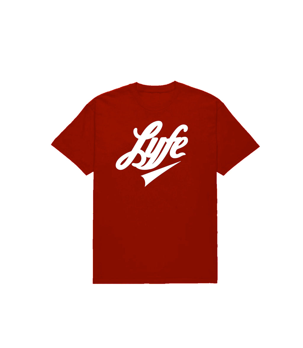 LYFE SCRIPT SS IN RED