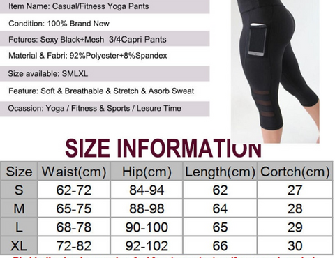 0efa6787d0f45 Top Selling Anti-Wrinkle With Side Pockets Sports Leggings Mesh ...