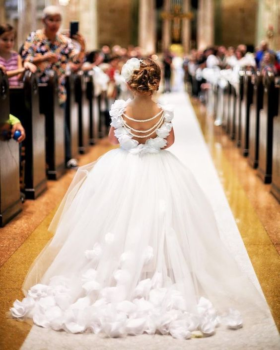 Tulle wedding dress for girl - Amelie Baku Couture