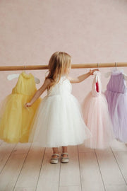 Pretty, pleated tulle dress for girls - Amelie Baku Couture