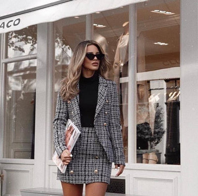 Tweed Jacket+Skirt