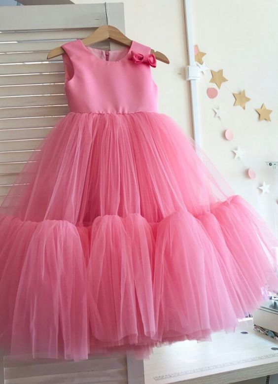 Pink tulle girl dress