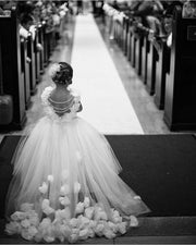 Tulle wedding dress for girl