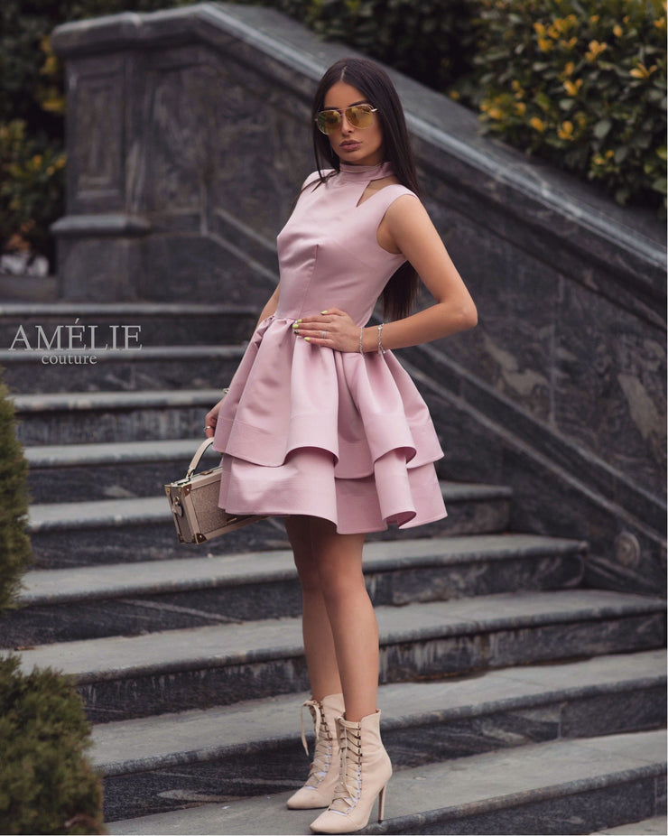 Pink Taffeta Dress from Bloom collection - Amelie Baku Couture