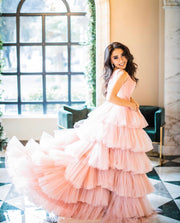 EMILIA GOWN PINK - Amelie Baku Couture