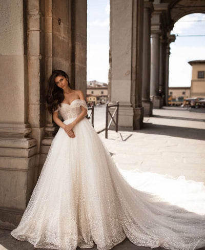 Pearl bridal dress - Amelie Baku Couture