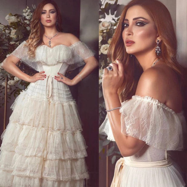 Charming off-the-shoulder dress - Amelie Baku Couture