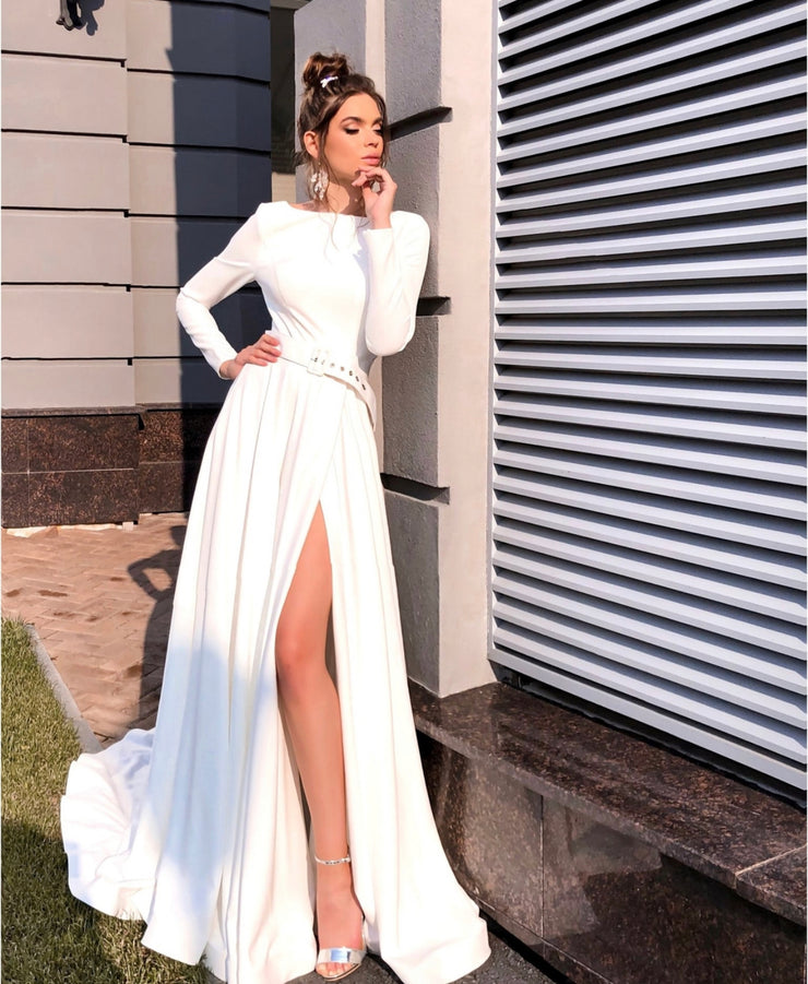 Lovely long-sleeved gown