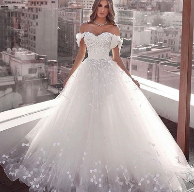 Off-the-Shoulder Ball Gown