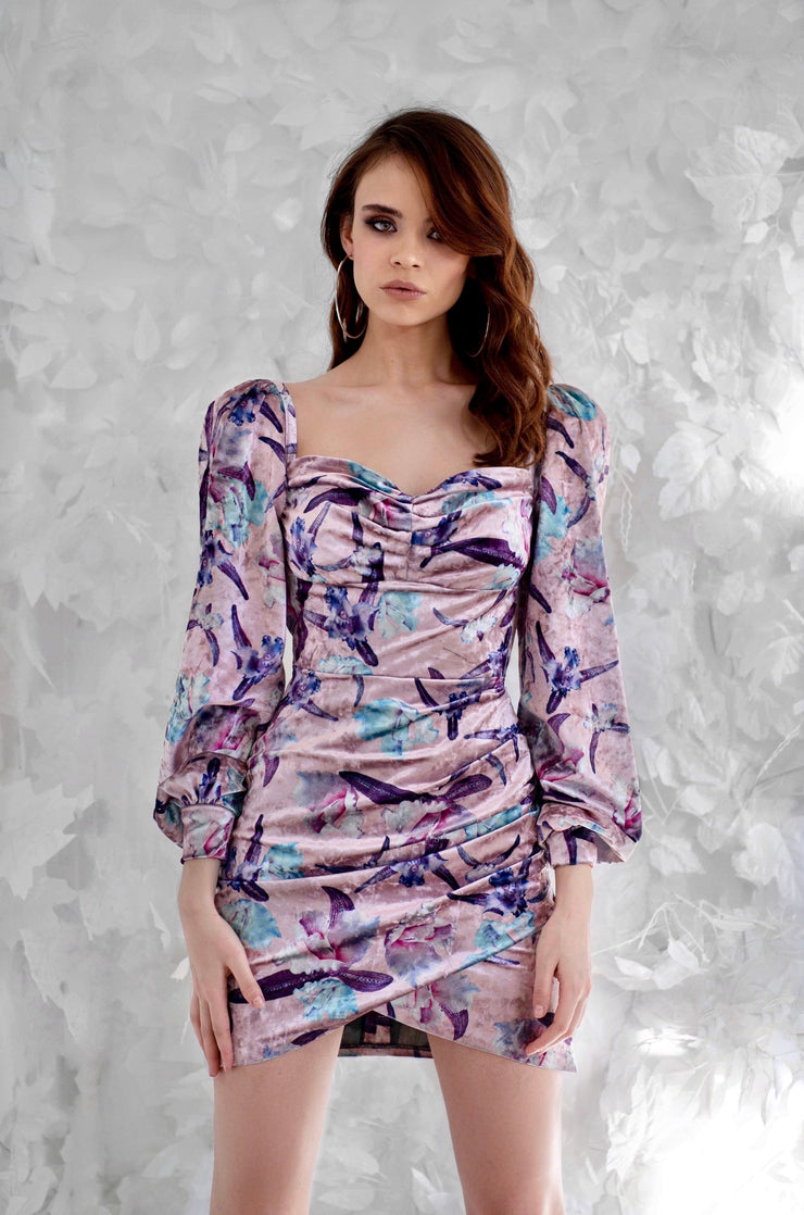 Semi-Sweetheart Mid-length Sleeve Mini Dress from Bloom collection