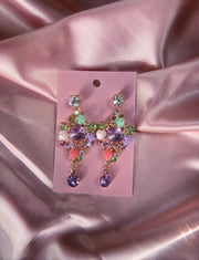 Earrings decorated with Flowers and Butterflies
