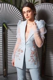 Blume Suit with Tulle sleeves by Amelie Baku