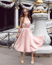 "Sleeveless nude pink ""BABY"" dress from Bloom Collection"