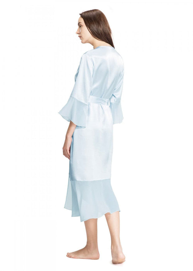 Wide Wrist Silk Robe