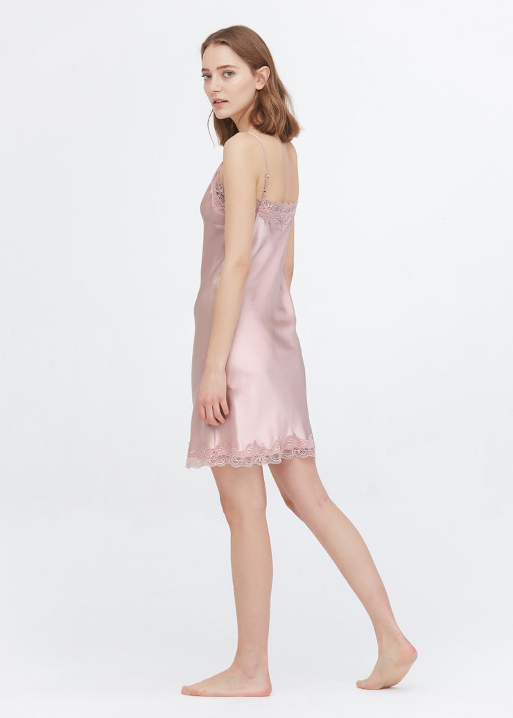 Lace Silk Feminine Nightgown