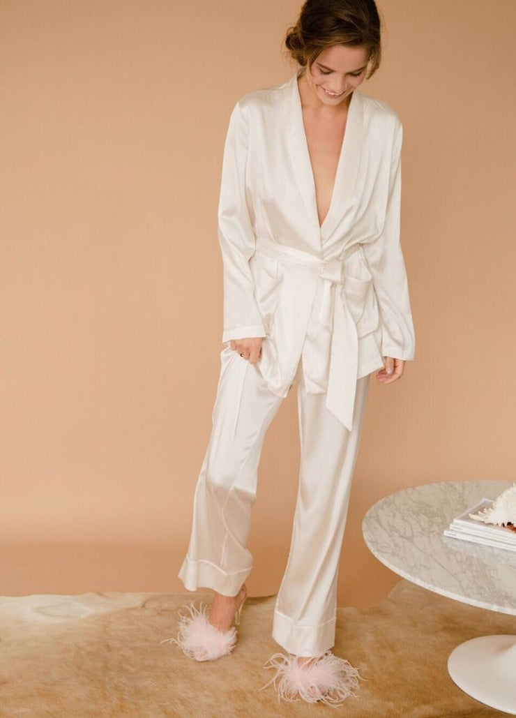 Satin Silk Robe Set