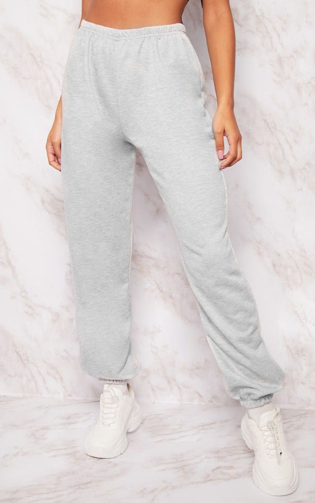 Cropped Grey Joggers