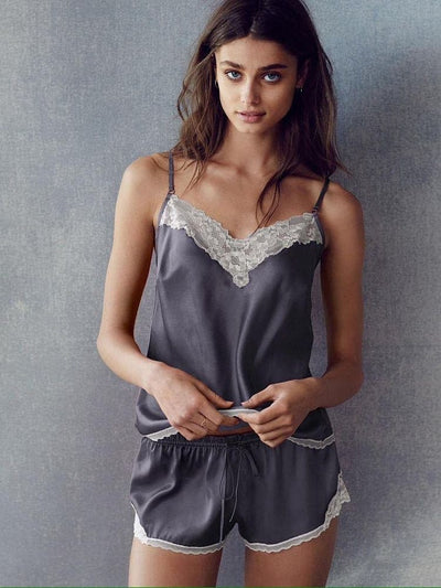 Lace Trim Cami Set