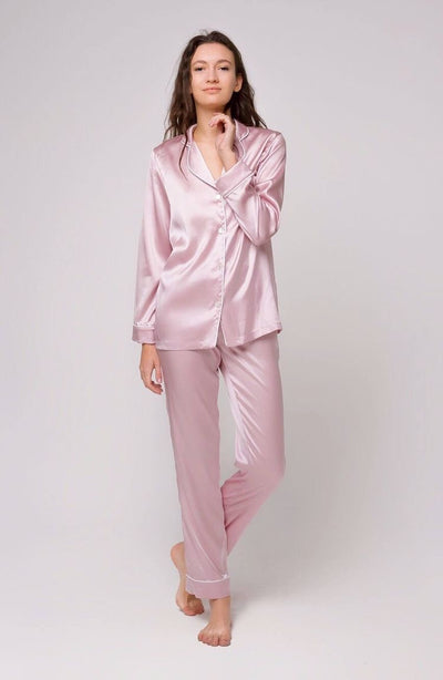 Full Length Silk Pyjamas Set